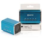 Přenosný reproduktor spodporou MP3, modrý