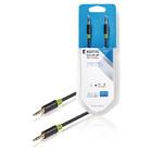 Stereofonní audio kabel, 3,5mm zástrčka – zástrčka, 3m, šedý
