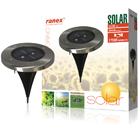 Kulaté solární zemní bodové LED svítidlo