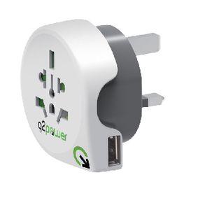 Cestovní Adaptér Svìt-na-UK USB Zemnìný