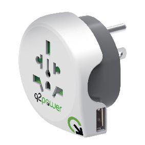 Cestovní Adaptér Svìt-na-USA USB Zemnìný