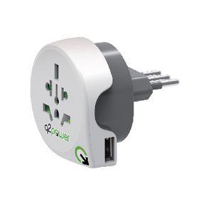 Cestovní Adaptér Svìt-na-Itálie USB Zemnìný