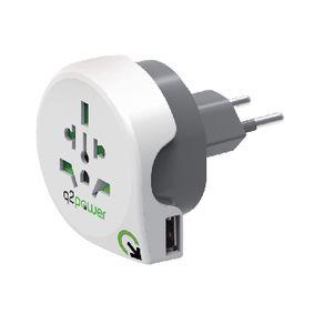 Cestovní Adaptér Svìt-na-Švýcarsko USB Zemnìný