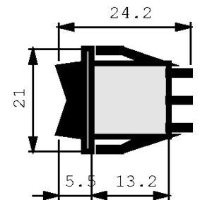 Kolébkové spínaèe 2P 10 A 250 VAC