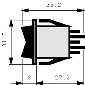 Kolébkové spínaèe 2P 16 A 250 VAC