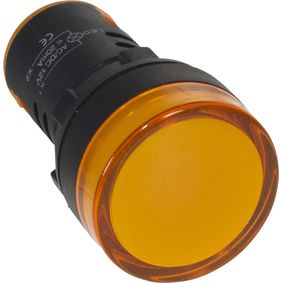 22mm indikátor na panel Jantarová 230 VAC