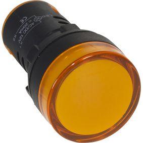 22mm indikátor na panel Jantarová 110 VAC