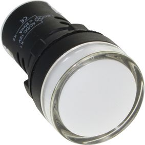 22mm indikátor na panel Bílá 230 VAC