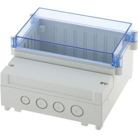 Pouzdro pro PCB na lištu DIN 161 x 166 x 121 mm ABS / PC