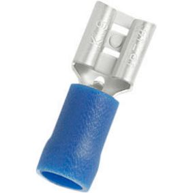 Nožová zásuvka Modrá 6.3 x 0.8 mm N/A PU = 100 PC