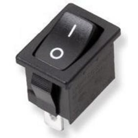 Power Rocker Switch, Black, On-Off