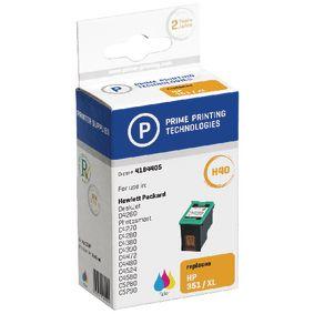 Cartridge 4184405 Nahrazuje HP CB338EE Azurov� / Fialov� / �lut� 24 ml