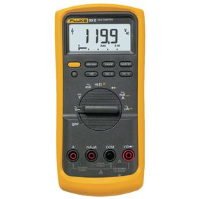 Digitální multimetr FLUKE 83-V/EUR Efektivní hodnota 6 000 èíslic 1000 VAC 1000 VDC 10 ADC