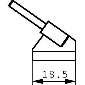 Pár pájecích hrotù na pinzetu 18.5 mm PU=2 PC