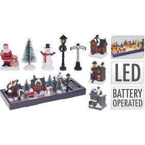 VILLAGE WITH LED | SET OF 10 PCS - zvìtšit obrázek