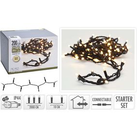 CONNECTABLE CHRISTMAS LIGHTS | STARTER SET | 200 LED | WARM WHITE | 230 V - zvìtšit obrázek