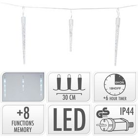 ICICLE LIGHTING | 72 LED | 6.9 METER LIGHTING | WHITE - zvìtšit obrázek