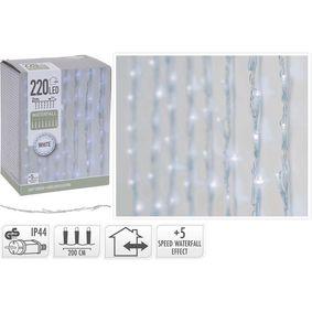WATERFALL LIGHTING | 220 LED | 2 METERS LIGHTING | 1 METER HEIGHT | WHITE - zvìtšit obrázek