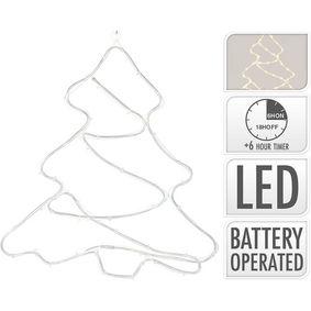 ROPELIGHT CHRISTMAS TREE | 60 LED | TIMER FUNCTION | WARM WHITE - zvìtšit obrázek