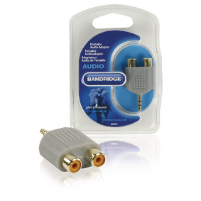Stereo Audio Adapt�r 3.5mm Z�str�ka - 2x CINCH Z�suvka �ed�