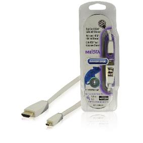 High Speed HDMI Kabel s Ethernetem HDMI Konektor - HDMI Micro Konektor 1.00 m Bílá - zvìtšit obrázek