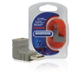 Adaptér USB 2.0 Úhlový 90° USB A Zástrèka - USB A Zásuvka Šedá - zvìtšit obrázek
