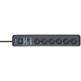 Secure-Tec, Power strip 6-way Black - zvìtšit obrázek