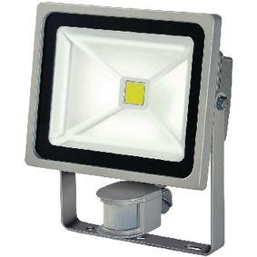 LED Reflektor se Senzorem 30 W 2100 lm Šedá