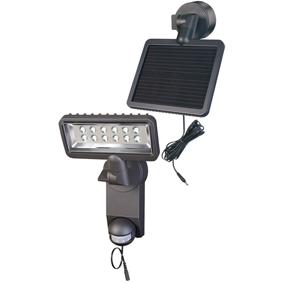 Solární Nástìnné Svítidlo 12 LED Èerná