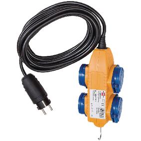 Prodlužovací Napájecí Kabel 5.00 m H07RN-F 3G1.5 IP44 Žlutá