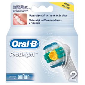 Náhradní Hlavice k Zubnímu Kartáèku Probright 2-Pack