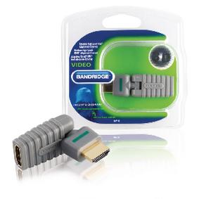 Adaptérem High Speed HDMI s Ethernetem Otoèný HDMI Konektor - HDMI Zásuvka Šedá - zvìtšit obrázek