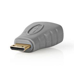 HDMI Adaptér | HDMI Mini Konektor - HDMI Zásuvka | Šedý