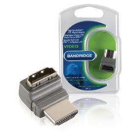 Adaptérem High Speed HDMI s Ethernetem Úhlový 270° HDMI Konektor - HDMI Zásuvka Šedá - zvìtšit obrázek