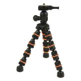 Flexibiln� Stativ 18 cm 0.5 kg �ern�/Oran�ov�