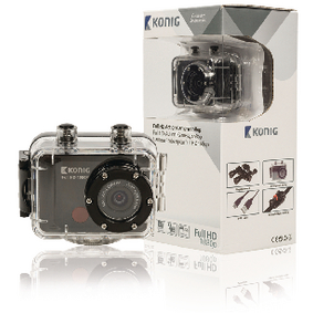 Akèní Full HD kamera 1080p Vodotìsné Pouzdro Èerná