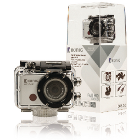 Akèní Full HD kamera 1080p Wi-Fi Støíbrná