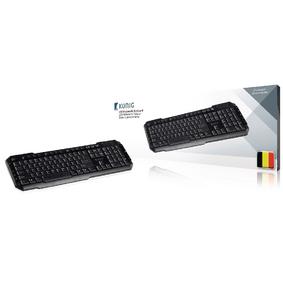 Drátová Klávesnice Multimediální USB Belgická Èerná