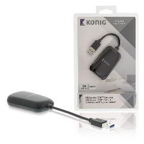 Pøevodník USB 3.0 - HDMI Èerná