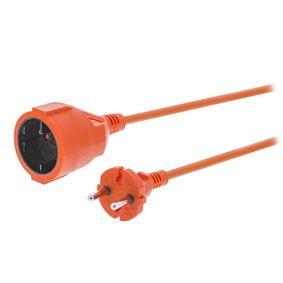 Prodlužovací Napájecí Kabel 15 m H05VV-F 2X1.5 Oranžová