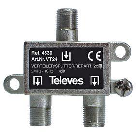 CATV Rozboèovaè 4 dB / 5-1000 MHz - 2 Výstupy