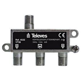 CATV Rozboèovaè 6 dB / 5-1000 MHz - 3 Výstupy