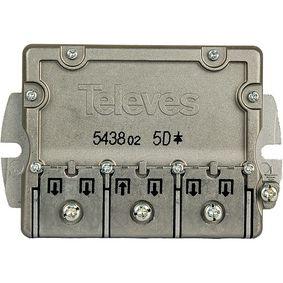 Satelitní Rozboèovaè F-konektor 9.5 dB / 5-2400 MHz - 5 Výstupy