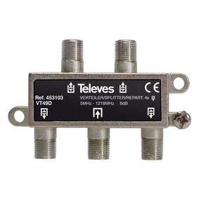 CATV Rozboèovaè 8 dB / 5-1218 MHz - 4 Výstupy