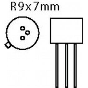 Tranzistor SI-N 100 VDC 1 A 0.75 50MHz