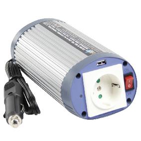 Mìniè Modifikovaná sinusoida 24 VDC - AC 230 V 150 W F (CEE 7/3) / USB