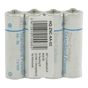 Zinko-Uhlíková Baterie AA 1.5 V 4-Fólie