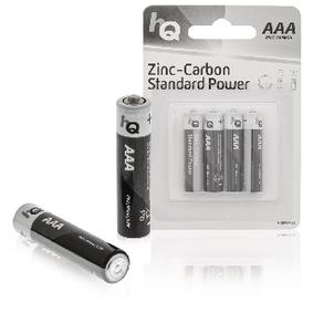 Zinko-Uhlíková Baterie AAA 1.5 V 4-Blistr