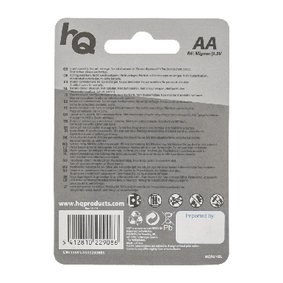 Zinko-Uhlíková Baterie AA 1.5 V 4-Blistr