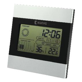Meteostanice / LCD Hodiny Interiér Šedá/Èerná